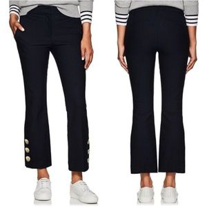 Derek Lam 10 Crosby Cropped Flare Button Trouser